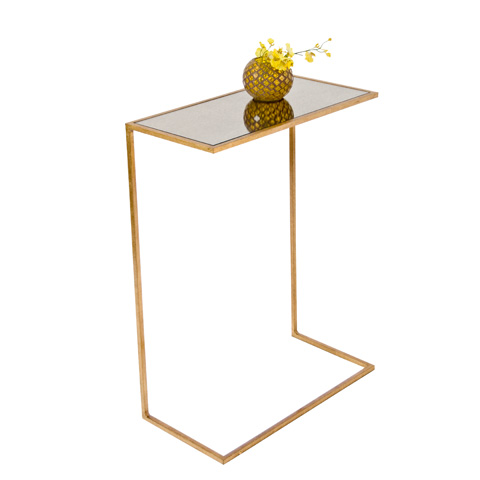 Worlds Away - Gold Leaf Cigar Table - RICO