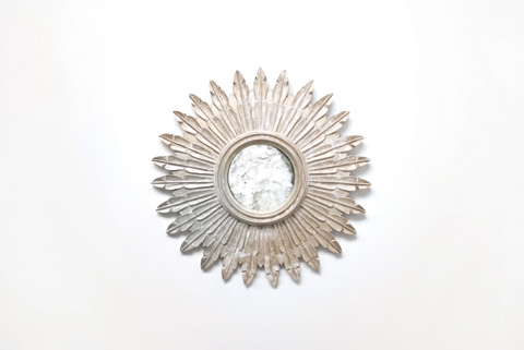 Worlds Away - Silver Leaf Starburst Mirror - SANTO S