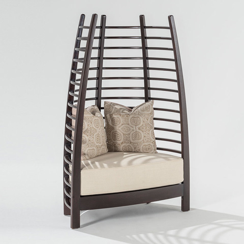 Adriana Hoyos - Chocolate Iconic Upholstered Chair - CH10-900