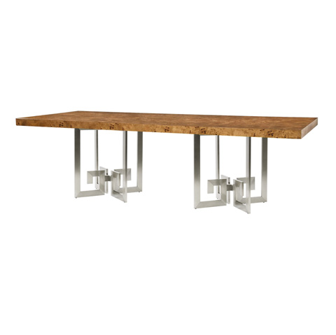 Belle Meade Signature - Nikki Greek Key Dining Table - 6093
