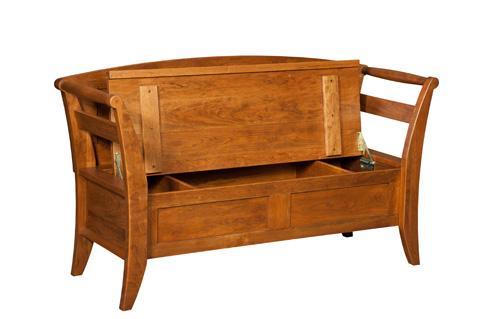 Borkholder Furniture - Mennonite Storage Bench - 16-1403XXX