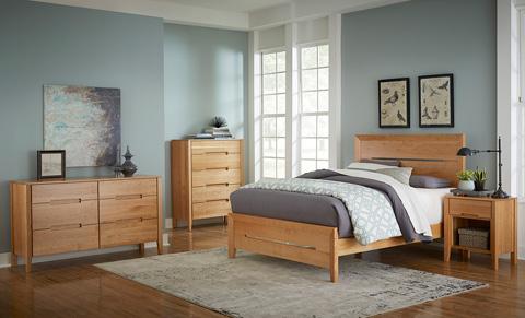 Borkholder Furniture - Transitions Open Bottom Nightstand - 40-1601XXX