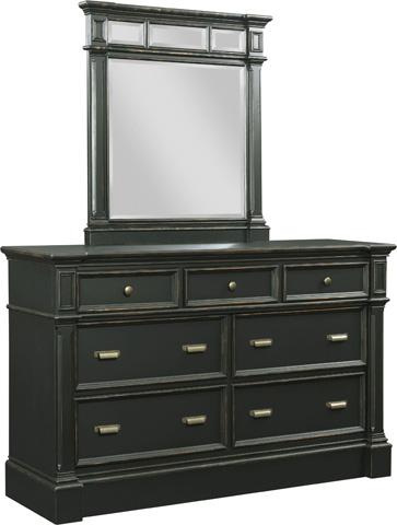 Broyhill Furniture - New Vintage Time-Worn Ebony 7-Drawer Dresser - 4809-230