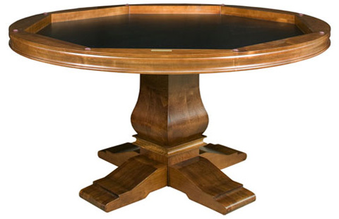 California House - Game Table with Storage - T54-RND-HIL-GS