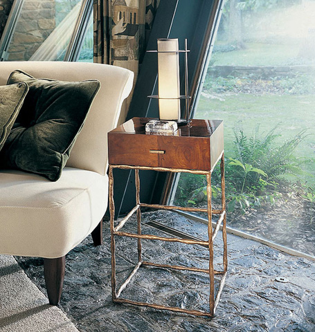 Century Furniture - Metal Chairside Table - 559-625