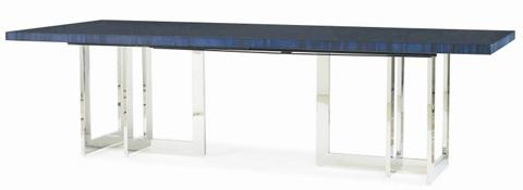 Century Furniture - Rectangular Dining Table with Metal Base - 849-303