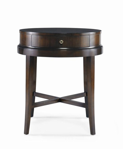 Century Furniture - Round Lamp Table with Drawer - 339-628
