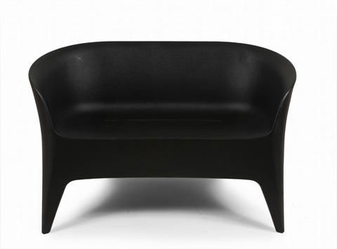 Control Brand - The Tuxedo Outdoor Love Seat - FKC012BLK