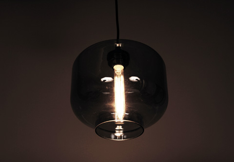 Control Brand - The Bergen Pendant in Grey Tint - LM594PGREY