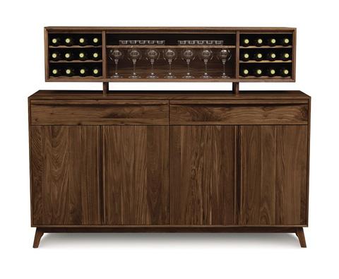 Copeland Furniture - Catalina 2 drawers over 4 door Buffet in Walnut - 6-CAL-60-04