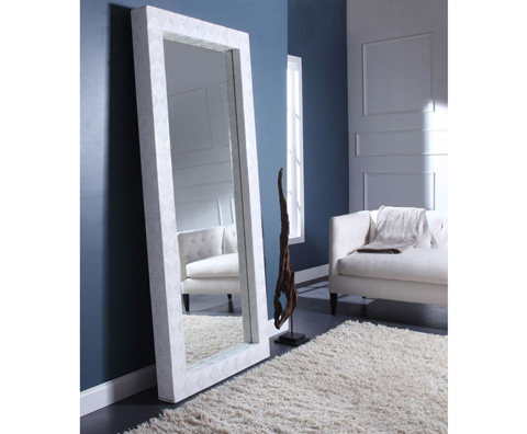 Curate by Artistica Metal Design - Split Cane Floor Mirror - C104-597