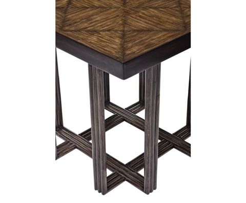 Curate by Artistica Metal Design - Crushed Bamboo Square End Table - C406-260