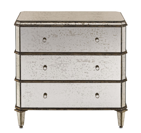 Currey & Company - Antiqued Mirror Chest of Drawers - 4204