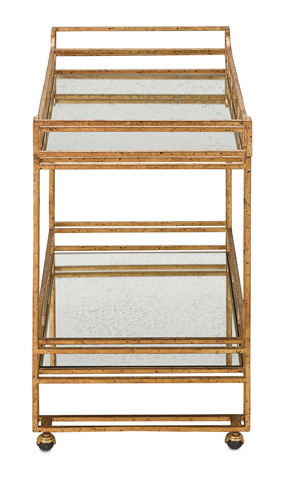Currey & Company - Odeon Bar Cart - 4217