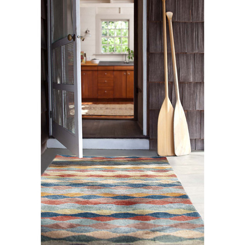 Dash & Albert Rug Company - Ripple Cinnamon Wool Tufted 8x10 Rug - RDA264-810