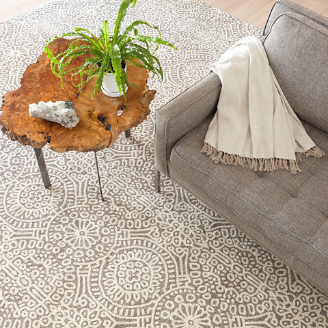 Dash & Albert Rug Company - Temple Taupe Wool Micro Hooked Rug - RDA423-58