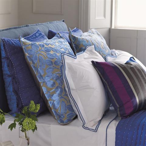 Designers Guild - Astor Cobalt King Pillowcase - BEDDG0244