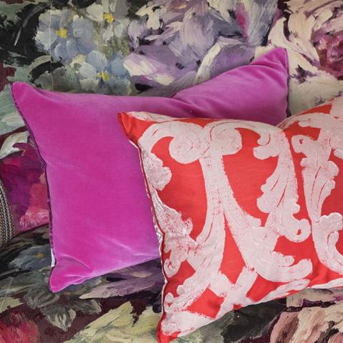 Designers Guild - Cassia Magenta Throw Pillow - CCDG0446