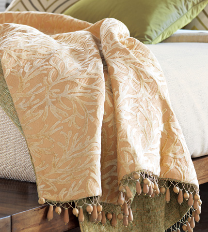 Eastern Accents - Augustine Gold Throw - THO-173