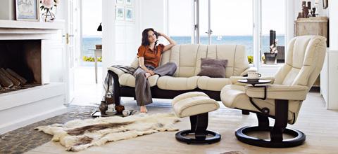 Ekornes - Windsor Lowback Three Seat Sofa - 1193030