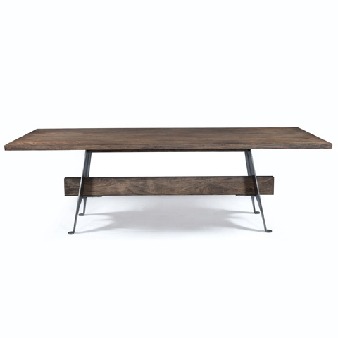 Four Hands - Mango Wood and Metal Dining Table - ISD-0165