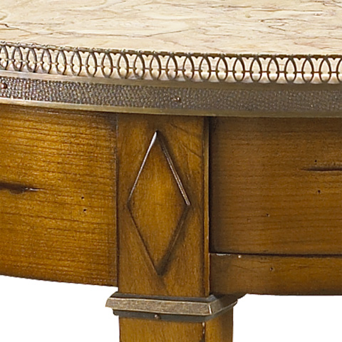 French Heritage - Villiers Gueridon Round Side Table - A-2442-401-ACHB