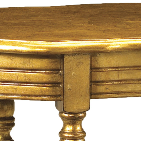 French Heritage - Jolie Gold Leaf End Table - M-1343-202-GOLD