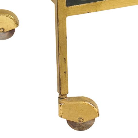 French Heritage - Rhone Glass Bar Cart - M-1359-101-GLD