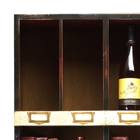 French Heritage - Bookshelf with Wine Racks - M-FL49-082B-BEI