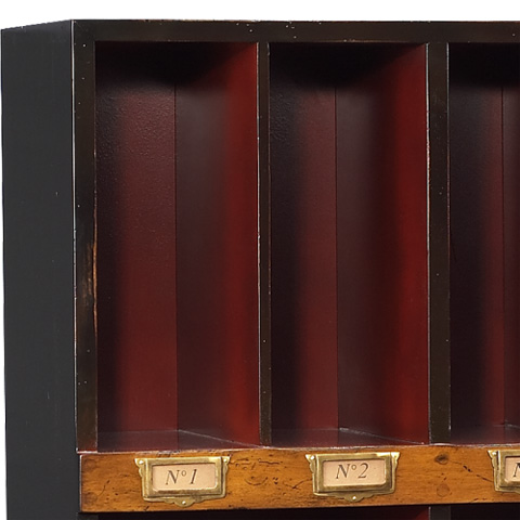 French Heritage - Eight Cube Bookcase - M-FL49-082D-BKR