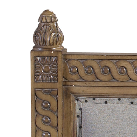 French Heritage - Lilles Wood Queen Panel Bed - M-1110-604-VBO