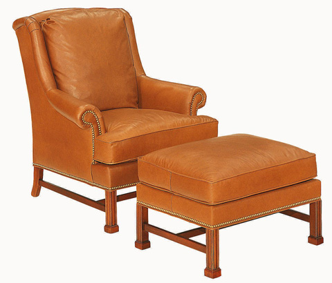 Hickory Chair - Marlborough Leg Ottoman - 1756-89