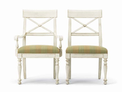 Hickory White - X-Back Arm Chair - 231-63
