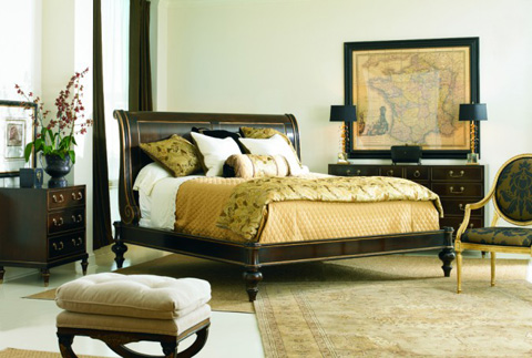 Hickory White - King Sleigh Bed - 175-23