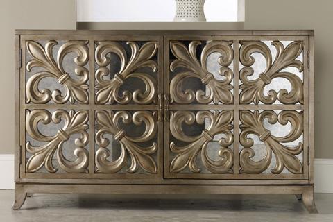 Hooker Furniture - Melange Fleur-de-lis Mirrored Credenza - 638-85057