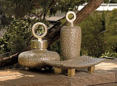 IMAX Worldwide Home - CKI Round Myriad Lidded Vase - 13453