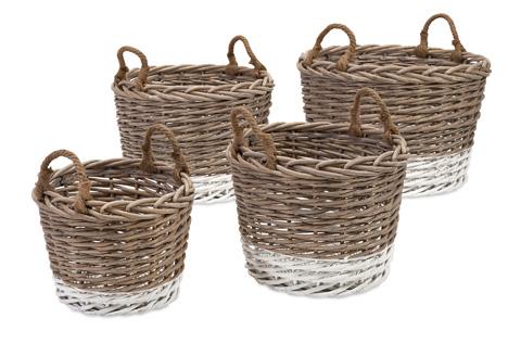 IMAX Worldwide Home - Danica Willow Baskets - Set of 4 - 86510-4
