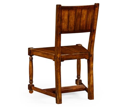 Jonathan Charles - Planked Walnut Side Chair - 492312