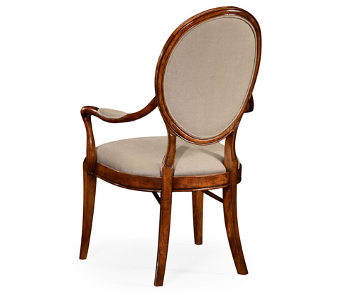 Jonathan Charles - Spoon Back Upholstered Dining Arm Chair - 492791