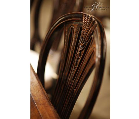 Jonathan Charles - Hepplewhite Wheatsheaf Side Chair - 493760