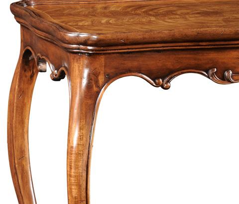 Jonathan Charles - Walnut Rococo Side Table - 493919