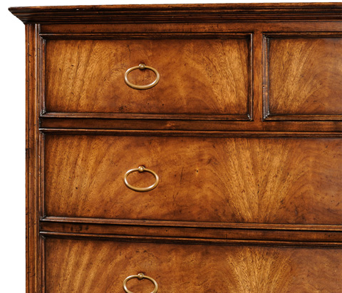 Jonathan Charles - Crotch Walnut Bedside Chest of Drawers - 493973