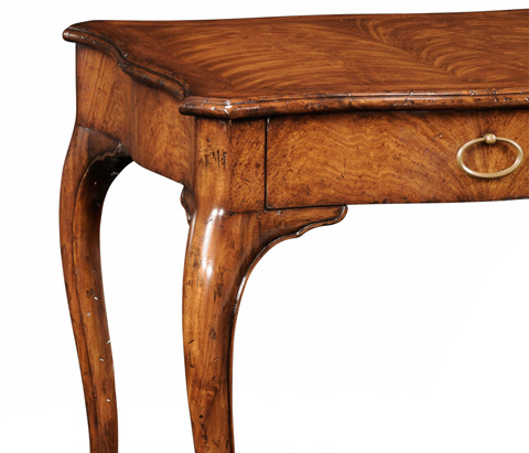 Jonathan Charles - Walnut Square Lamp Table - 494045