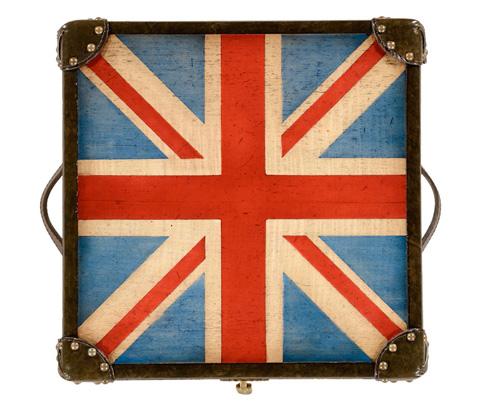 Jonathan Charles - Union Jack Square Trunk - 494434