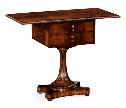 Jonathan Charles - William IV Mahogany Table with Side Panels - 494484