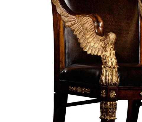 Jonathan Charles - Empire Angel Wing Arm Chair - 494590