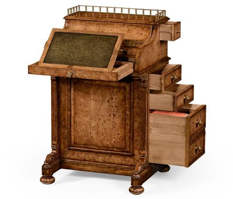 Jonathan Charles - Burl Oak Davenport Desk - 494656