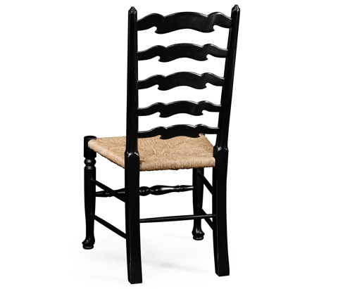 Jonathan Charles - Black Painted Ladder Back Side Chair - 494943