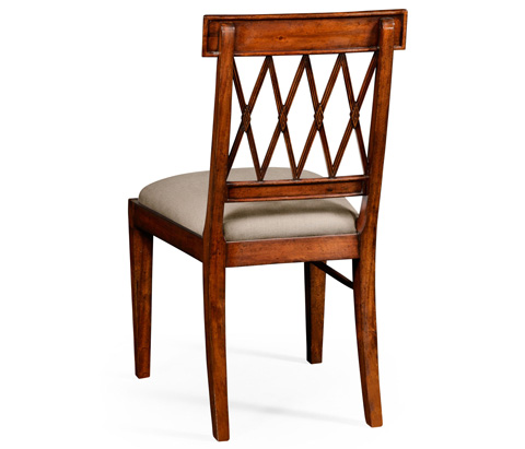Jonathan Charles - Regency Style Lattice Back Dining Side Chair - 494949
