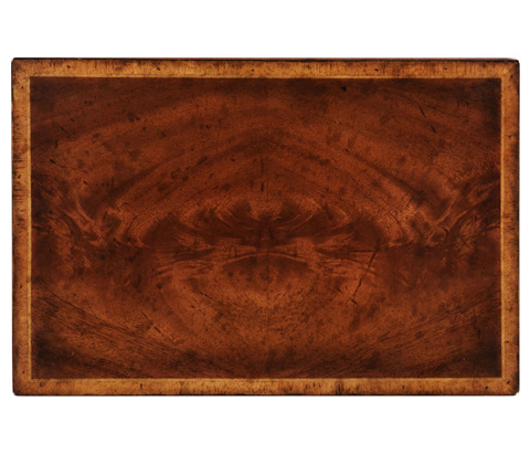 Jonathan Charles - Crotch Mahogany Jewellery Rectangular Box - 493847